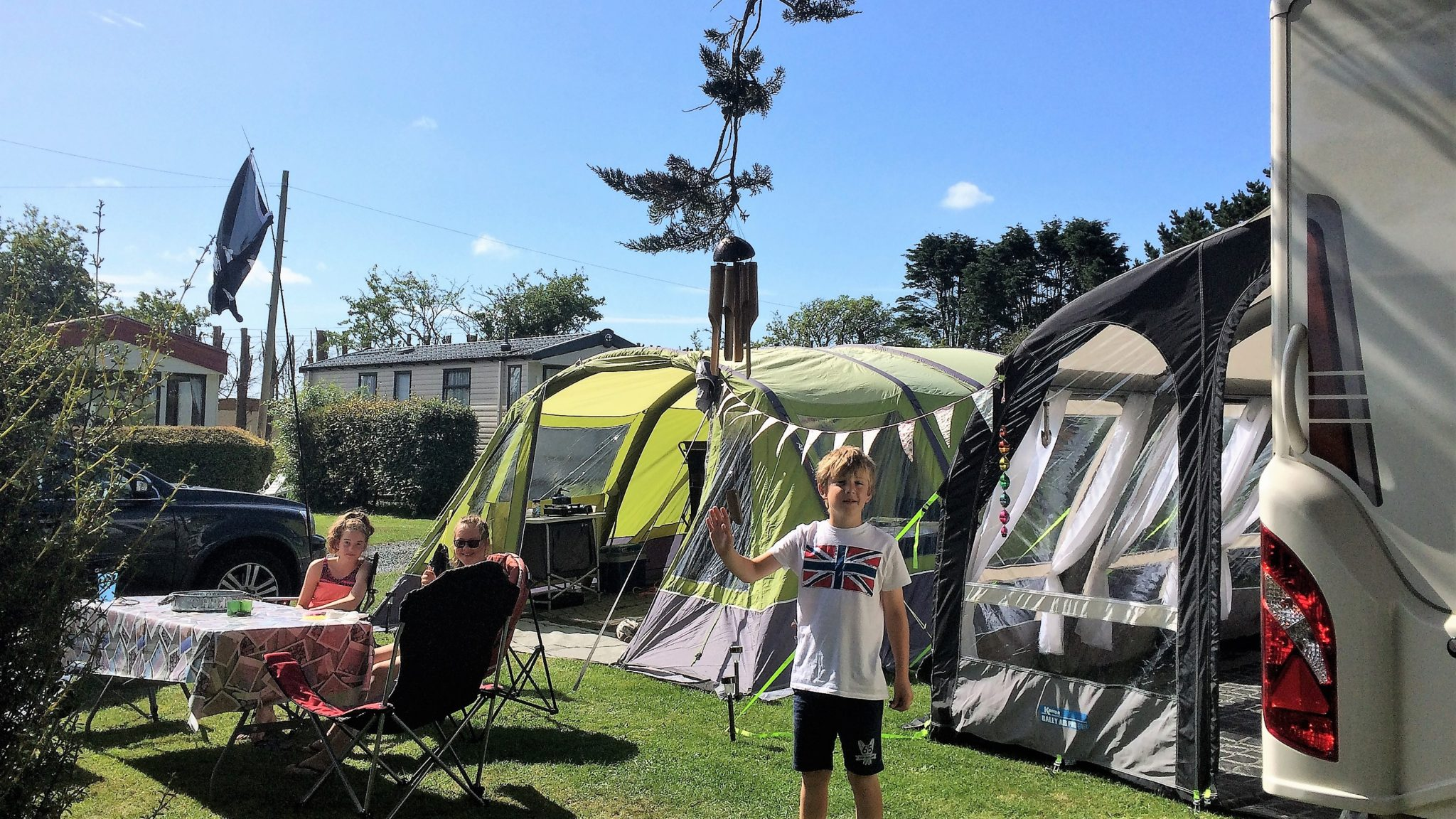 Family Touring Caravan Holiday In Cornwall