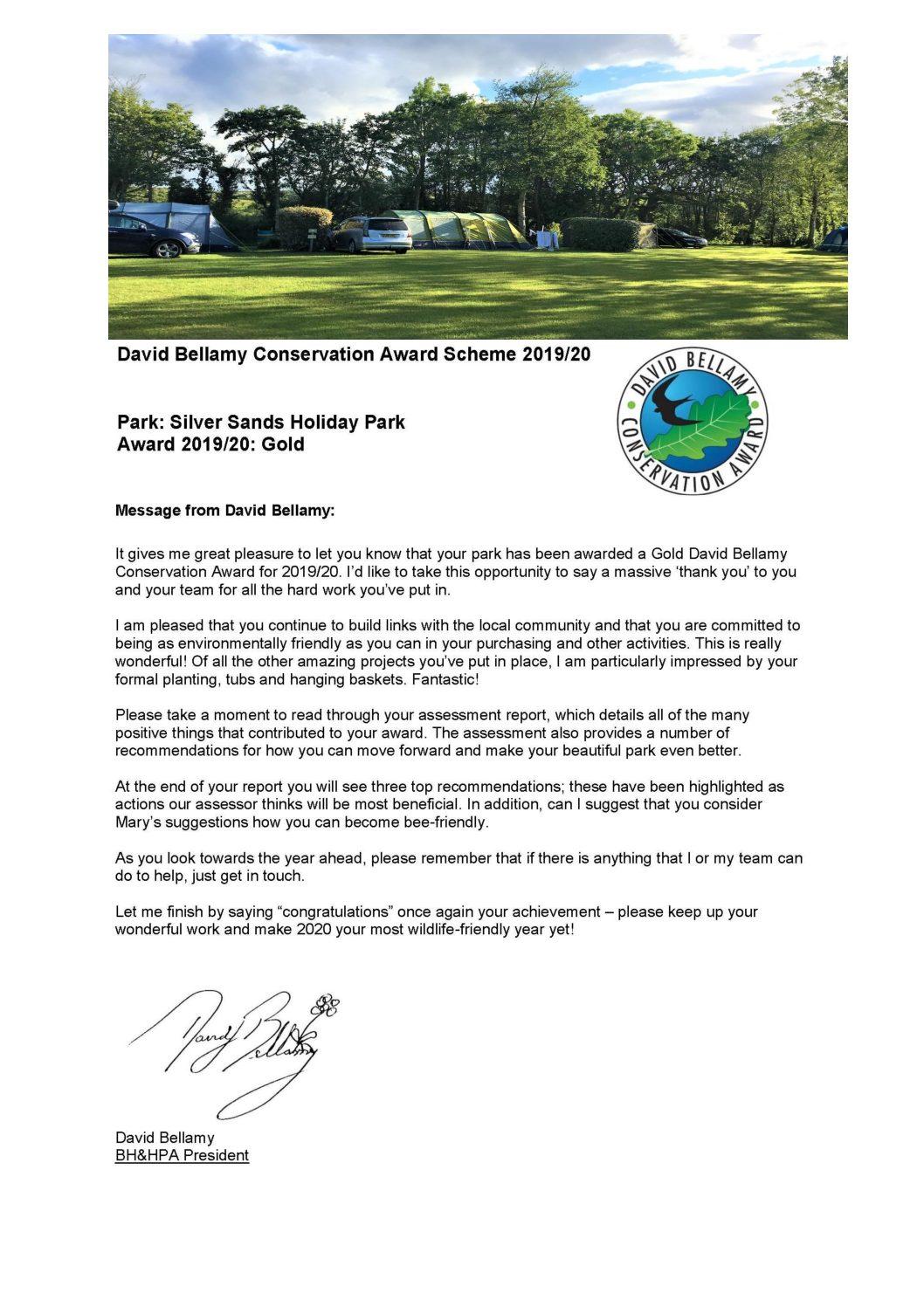 David Bellamy Conservation Award Scheme 2019/20